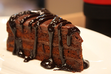 This super chocolatey cake is mouth watering!