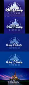 Click on the image for full-size. The opening Disney logo. The 1991 VHS & laserdisc, 1999 DVD, and