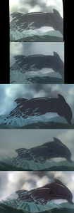 Click on the image for full-size. Happy dolphins in the water: