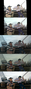 Click on the image for full-size. Prince Eric and a sailor: