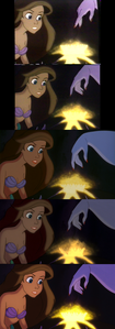 Click on the image for full-size. Ursula makes a crown appear for Princess Ariel. Notice in the 4th