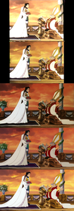 Click on the image for full-size. Vanessa, Prince Eric & the naughty priest. Notice in the last two