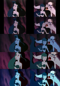 Click on the image for full-size. Princess Ariel watches Ursula & the sea witch swims to the Mer-pri