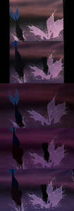 Click on the image for full-size. Princess Ariel & Prince Eric has jumped from the giant Ursula's cr