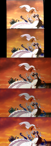 Click on the image for full-size. Vanessa getting attacked by a pelican and lobsters.