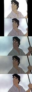 Click on the image for full-size. Prince Eric hears about King Triton for the first time.