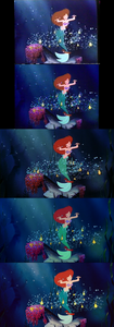 Click on the image for full-size. Princess Ariel & Sebastian under the sea.