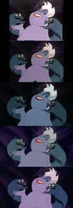 Click on the image for full-size. Ursula with Flotsam & Jetsam.