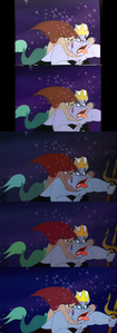 Click on the image for full-size. Princess Ariel attacks Ursula.