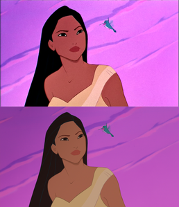 Click on the image to see it in full size. Pocahontas and Flit: