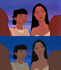 Click on the image to see it in full size. Nakoma and Pocahontas looking at Kocoum: