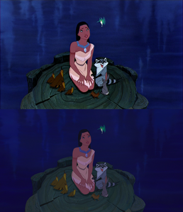 Click on the image to see it in full size. Pocahontas and her animal friends: