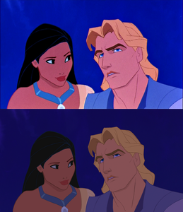 Click on the image to see it in full size. Pocahontas and John Smith: