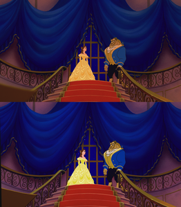 Click on the image to see it in full size. Princess Belle and The Beast.