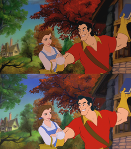 Click on the image to see it in full size. Princess Belle is not impressed by Gaston: