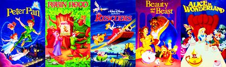 [u] superiore, in alto 5 Animated Disney Movies[/u] Peter Pan Robin cappuccio The Rescuers Beauty and the Beast Alic