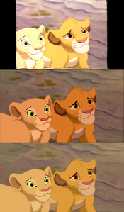 Click on the image to see it in full size. Nala & Simba: