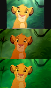 Click on the image to see it in full size. A very confused Simba: