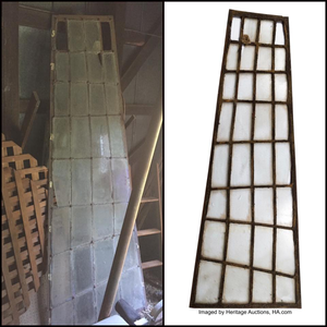 Original window from the Edward Scissorhands castello up for auction online this Saturday at Heritage A
