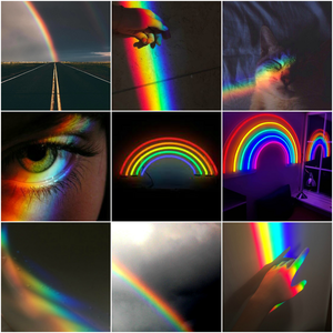 a collage i made of rainbows.:}