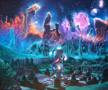 So much is going on here, but it's very captivating. Like another world in space!