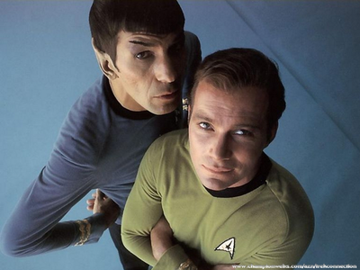 """""""Is there anyone on this ship, who even remotely, looks like Satan?"""" -- Kirk """"I am not aware of anyo"""