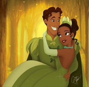 here you go i guess they are hugging here now find a pic of tiana in the white dress with naveen