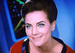 Updated: In no particular order Uhura Lwaxana Troi Jadzia Dax Amanda Grayson T'Pol Seven of