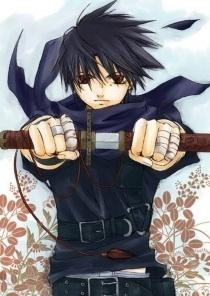 Name: Rigochi Age:12 Gender:Male City Of Origin:Shin ado Weapons: katana of dark magic He was tr