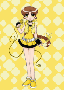 Surname:Akira Nakumura Other name:Bloom Gender:Girl PPGZ color:Yellow Weapon:Music Staff Transf