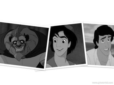 1. Beast :D 2. aladdin 3. Eric