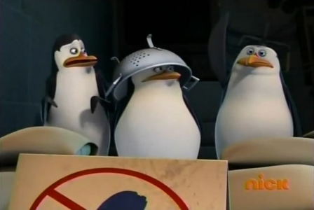 H: Has anyone of you ever tasted a penguin? R: *raises flipper* S/K: O_o