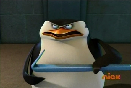 >:( (Uh oh. Skipper noticed the camera. XD)