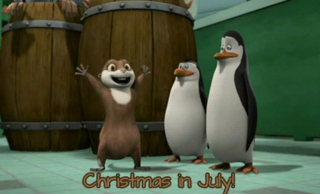 """Christmas in July!"" :D"