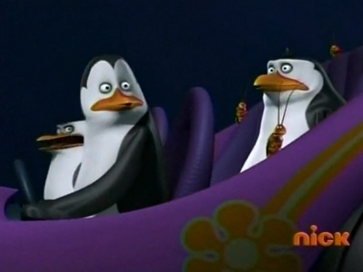 Private: *falls from car* Skipper: Man overboard, Kowalski. Kowalski: I'm on it. *stops and reverse