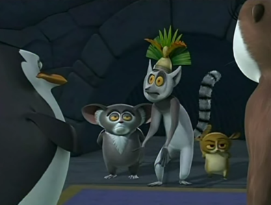 King Julien: What is all the commotion? I was having a dream where I was the last mammal on Earth. M