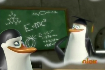 """ ... E=mc³. Einsten, is there anything he got right?"" ;)"
