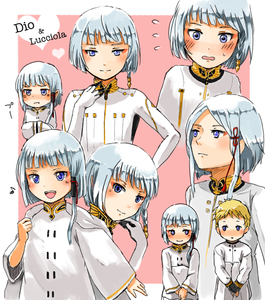 Dio Last exile and his sis Delphine (the blond is lucciola)