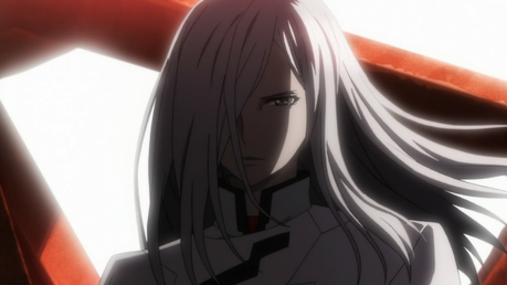 Gai Tsugumi from Guilty Crown but when he cut off Shu's arm off or in other words goes evil