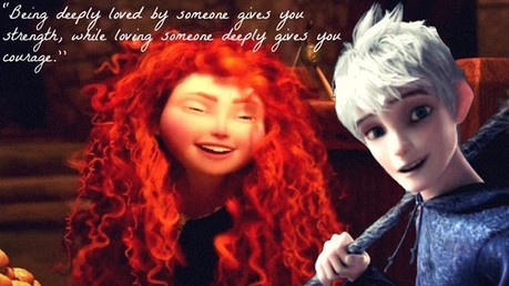 Here&#39;s Merida with Jack Frost from the upcoming Dreamworks film Rise of the Guardians