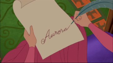 Aurora's signature!Simple and elegant,pure class! ^^