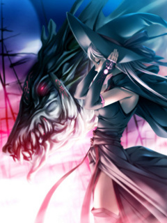 this is a picture of her witch form: