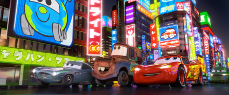 Tokyo in the Disney-Pixar movie Cars 2 Find a picture of a really cute Disney character.