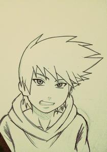 Name: hikaru Age: 15 Gender: male Rank: genin Hairstyle: all of his hair looks like the wind is b