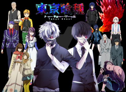 If you're wondering Tokyo ghoul is a anime it has two seasons as well for the manga the regular Tokyo