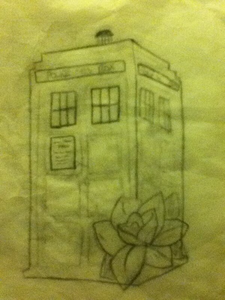 I'm ready for my TARDIS/rose tattoo and I'm a terrible artist so my sketch is NOT going on my body, c