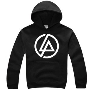 linkin park lp logo long sleeve pullover hoodie linkin. Black Bedroom Furniture Sets. Home Design Ideas