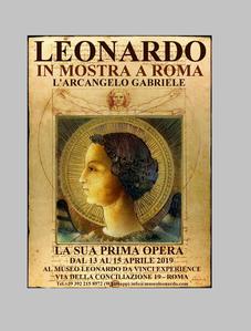 Evento epocale a Roma, il primo dipinto di Leonardo da Vinci, l' Arcangelo Gabriele del 1471 verrà e