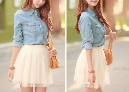 Denim blouse~