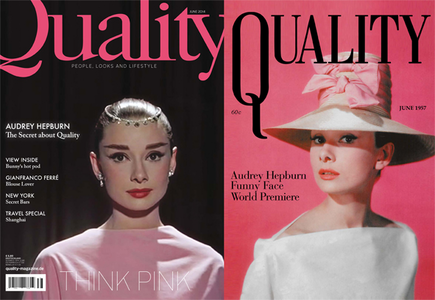 After 57 years Audrey Hepburn is the cover-girl of Quality Magazine again. Read all about Audrey,